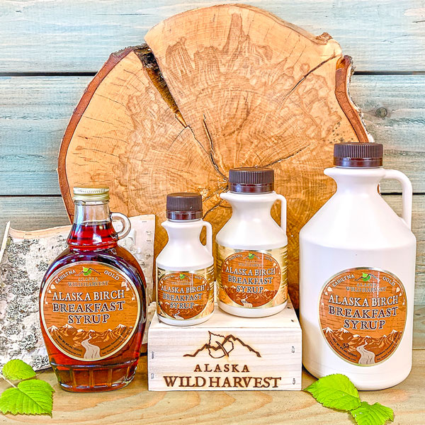 Alaska Birch Breakfast Syrup available in 4 sizes