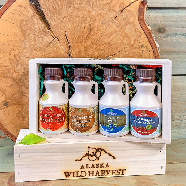 Alaska Birch Syrup and Berry Syrup Pick 4